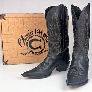 Charlie 1 Horse By Lucchese Snip Toe Cowboy Boots